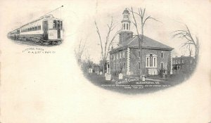LPS37 Alexandria Virginia Christs Church Electric Flyer Private Mailing Card