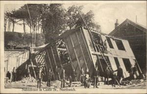 Collapsed House Castle St. Northwich UK c1910 Postcard/Cover