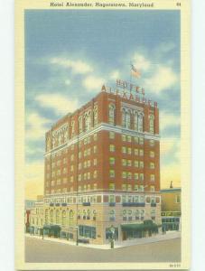 Unused Linen ALEXANDER HOTEL Hagerstown Maryland MD hr8359