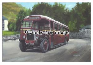 tm5716 - Crosville Bus no B35 at Llanberis - art G S Cooper postcard