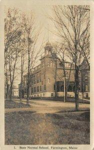 LP58   Farmington Maine    RPPC Postcard State Normal School