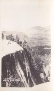 New Hampshire White Mountains Cathedral Ledge Real Photo