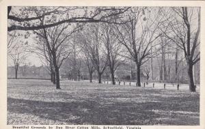 SCHOOLFIELD, Virginia, 1930's; Beautiful Grounds By Dan River Cotton Mills