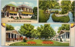 Bel Air, Maryland Postcard DEL HAVEN HOTEL & COTTAGES Route 1 Roadside Linen