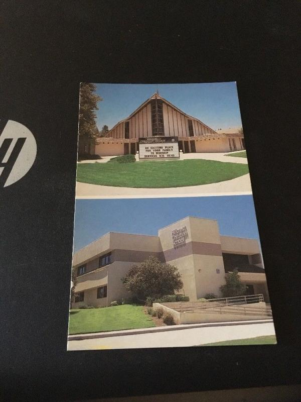 Vtg Postcard: Hillcrest Christian Church And School . Granada Hills CA