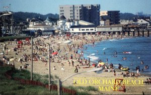 Maine Old Orchard Beach Greetings With Beach View