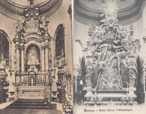 Notre Dame D'Hanswyck Maitre Autel 2x Antique Postcard