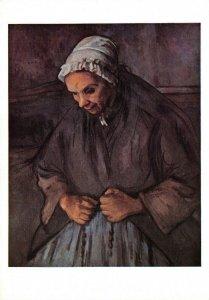 Art Postcard, La Vieille Au Chapelet, The Old Rosary by Paul Cezanne DH1