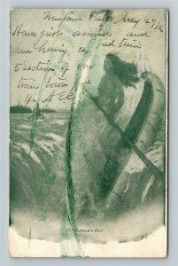 Native Americana - Niagara Falls - Redmans Fact Maiden Vintage Postcard