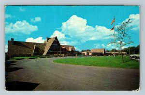 Oxford OH- Ohio, The Lodge, Hueston Woods State Park, Chrome Postcard