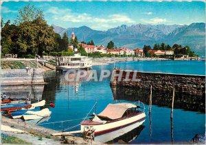 Postcard Modern Baveno Lago Maggiore Boat
