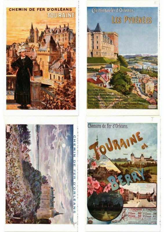ADVERTISING TRAINS, CHEMIN DE FER POSTER STYLE 40 CPA (L2740)