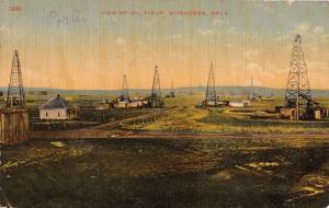 MUSKOGEE OKLAHOMA VIEW OF OIL FIELD~DERRICKS~S H KRESS PUBL POSTCARD 1911