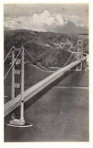California San Francisco Golden Gate bridge Airplane view
