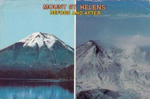 Washington Mount Saint Helens Before And After