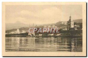 Old Postcard Evian les Bains General View