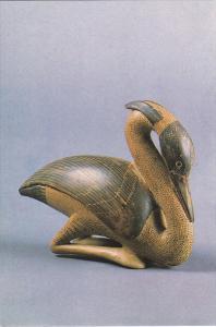 Perfume Bottle In Shape Of Heron Earthenware Greek 580-550 B C