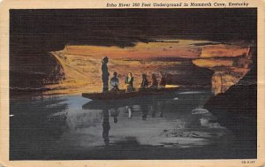 Caves Post Card Echo River Mammoth Cave National Park, Kentucky, USA 1953