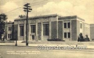 Long Island, NY USA,  Post Office Postcard, Postoffice Post Card Old Vintage ...