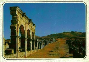 Morocco Volubiles Church and Capitol Basilique Ruins Postcard