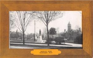 MUSKEGON MICHIGAN~HACKLEY PARK--LUXATONE PUBL POSTCARD 1910s