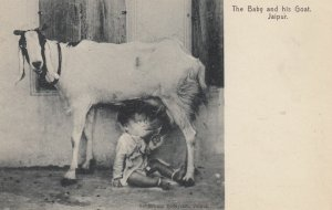 The Baby & his Goat , JAIPUR , India , 1900-10s