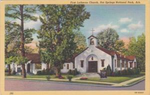 First Lutheran Church Hot Springs National Park Arkansas 1949 Curteich