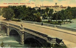 Goat Island Bridge, Niagara Falls, New York, 1911 Divided Back