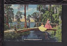 Rustic Bridge,Cypress Gardens,FL Postcard