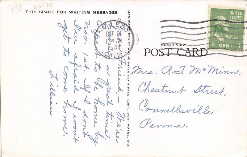 Vallejo California~US Post Office~Lady @ Stairway~40s Cars~Mailbox~