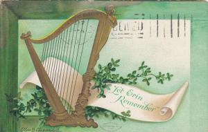 SAINT-PATRICK'S DAY; Let Erin Remeber, Gold Harp, Shamrocks, PU-1901
