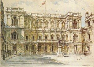 Art Postcard, Burlington House, London by Charlotte Halliday GP3
