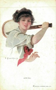 Girl Playing Tennis Love All Reinthal & Newman 04.79