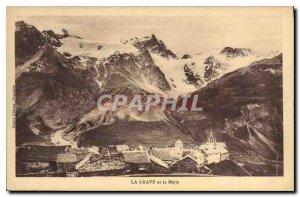 Old Postcard La Grave and the Meije