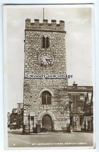 tp9111 - Devon - St. Leonard's Tower & Cafe c1952s, at Newton Abbot - postcard