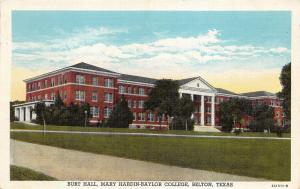 Belton Texas~Burt Hall @ Mary Hardin-Baylor University (College)~1949 Postcard