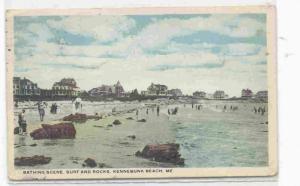 Bathing Scene, Sure and Rocks, Kennebunk Beach, Maine PU-1921