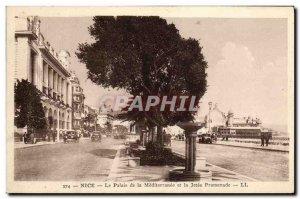 Old Postcard Nice Le Palais de la Mediterranee and Jetee Promenade