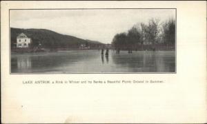 Ice Skating - Lake Antrim NH c1905 Postcard