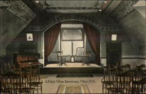 Tilton NH UP Hall Seminary c1910 Postcard rpx