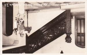 Illinois Hinsdale Grand Staircase St Francis Retreat 1942 Real Photo