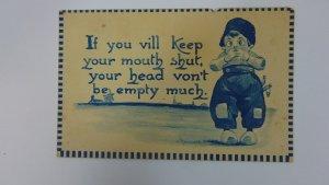 Antique Postcard 1912 Funny Card