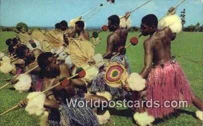 Fiji, Fijian Meke Wesi, Spear Dance Meke Wesi, Spear Dance / HipPostcard