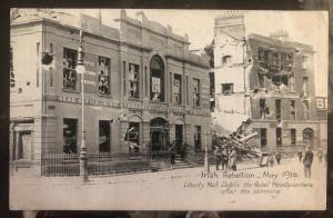 Mint Ireland  RPPC Real Picture Postcard Irish Rebellion Liberty Hall Dublin