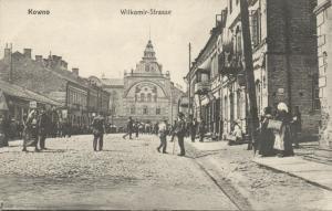 lithuania, KOWNO KAUNAS, Wilkomir Strasse (1915)