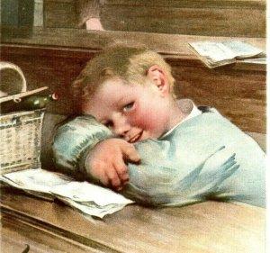 1902 Spencerian Pen Co. Victorian Trade Card Adorable Boys 7T