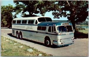 1950s GREYHOUND BUS Advertising Postcard Whenever You Are in Florida… Unused