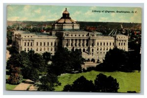 Vintage 1911 Postcard Panoramic View of the Library of Congress Washington DC