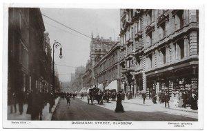 Enzie, England 1909 to Ontario, Canada W., Photo Postcard, Buchanan St, Glasgow