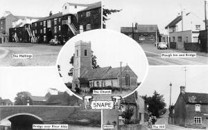 Suffolk Snape Maltings Plough Inn Bridge Alde River Hill Church Cars Multiviews
